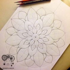 Draw Pattern - mandala by Gromova_Ksenya. Mandala Mural, Mandala Art Lesson, Mandala Drawing, Mandala Painting, Drawing Drawing, Mandala Pattern, Zentangle Patterns, Zentangles, Doodle Patterns