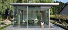 KELLER AG - Glashaus in exklusivem Flachdach-Design nach Maß in Luxemburg