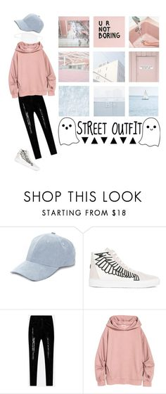 """""""Street outfit"""" by lostfishess ❤ liked on Polyvore featuring Collection XIIX and Marcelo Burlon"""