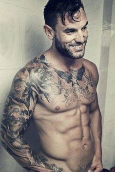 Love his smile and tattoos