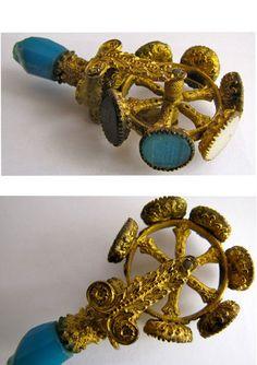 Charles X Ormolu rolling wheel seal with broken handle