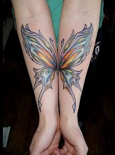 butterfly wings so cool! If only I had a job where huge tattoos on my forearms would be acceptable
