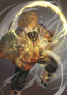 Agatsuma Zenitsu - Kimetsu no Yaiba - Image - Zerochan Anime Image Board Gundam Wallpapers, Animes Wallpapers, Demon Slayer, Slayer Anime, Era Taisho, Demon Hunter, Naruto Wallpaper, Anime Artwork, Anime Demon