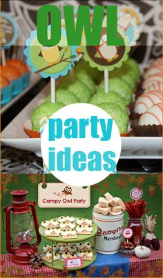 Owl Party Ideas.  Create a HOOT of a party with these creative Owl party ideas.  Great for a boy or girl birthday party, 1st birthday party or baby shower.