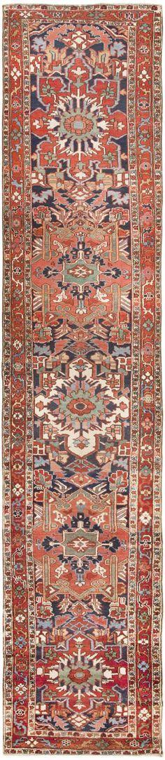 Antique Heriz Serapi Persian Rug