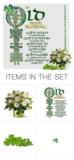 """Old Irish Blesssing"" by skpg ❤ liked on Polyvore featuring art"