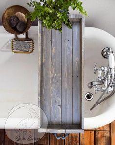Vintage Bathtub Tray -Bathtub Caddy -Wood Bathtub Tray with Handles - Vintage -Tub Tray -Tub Caddy -Rustic Tray - Bath -Bathroom -Home Decor (Diy Bathroom Tray) Wood Bathtub, Diy Bathtub, Bathtub Caddy, Bathtub Tray, Wood Bathroom, Bathroom Storage, Bath Tub, Bath Room, Bathroom Ideas