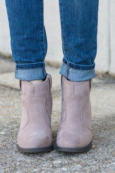 """In Good Stride Booties, Taupe"" 
