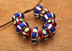 Bright Set of Cobalt Blue and Coral with Lime by blancheandguy, $64.00