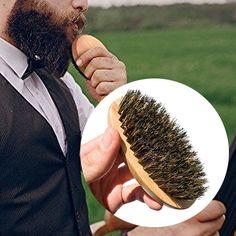 Men's Comb Shaving Beard Brush Bamboo&boar hair Stylish Bristles Face Massage Handle Beard Mustache Male Cosmetics Tool