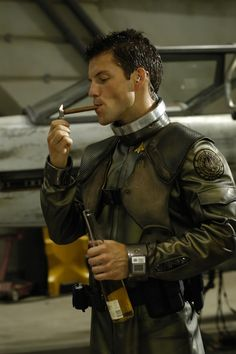 "Jamie Bamber as Lee ""Apollo"" Adama, the reason I continued watching Battlestar after Season 2"
