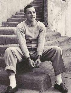 Gene Kelly, the set of American in Paris? Looks like it