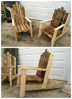 Pallet Chair For Outdoor Use #PalletChair, #RecycledPallet