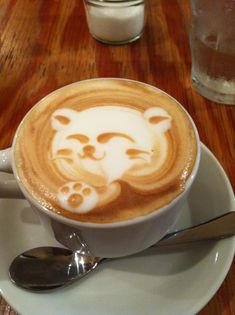 Cappuccino Kitty Foam Art