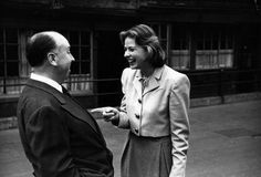 Portrait of Alfred Hitchcock and Ingrid Bergman by Kurt Hutton, 1948