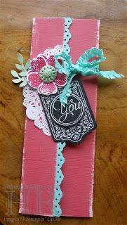 Chalk Talk and Flower Shop: gift card holder
