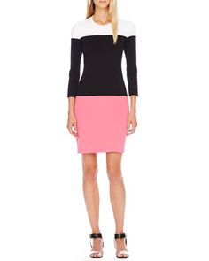 Colorblock Knit Dress by Michael Kors at Bergdorf Goodman.