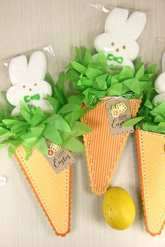 Carrot Treat Pouches by Erin Lincoln for Papertrey Ink (March 2015)