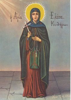 An Orthodox icon of St Elessa of Kythera from Mount Athos Religious Images, Religious Icons, Religious Art, Famous Saints, Greek Icons, Lives Of The Saints, Church Icon, Religious Paintings, Orthodox Christianity