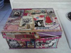 Modge Podge Mother's Day Box I made for my Mom.
