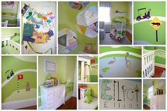 Golf themed nursery - uh oh husband may take over decorating lil man's room