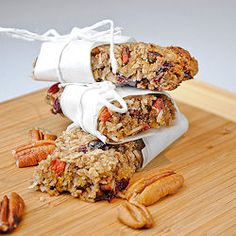 Banana Pecan Granola Bars... I used Walnuts instead, added some things, and... they're great!
