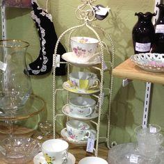 Cute tea cup display