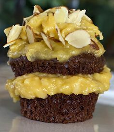 German Chocolate Cupcakes with Coconut Pecan Frosting