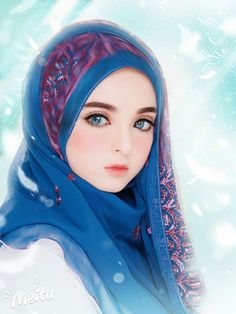 The actual scarf is the central bit in the outfits of ladies having hijab. As it is central to the adornment Beautiful Fantasy Art, Beautiful Anime Girl, Cute Cartoon Girl, Cartoon Art, Kawaii Anime Girl, Anime Art Girl, Tmblr Girl, Islamic Cartoon, Hijab Cartoon