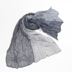 http://www.artfire.com/ext/shop/studio/bohemiantouch/1/1/10311//  Black and Grey Two Tone Color with a leaf texture Soft Touch Unisex Shawl Scarf, scarf is a great addition to your collection of fashion accessories. Perfect for all year round.