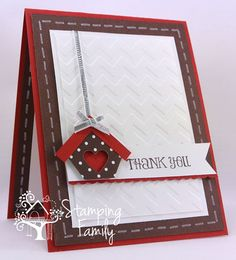 Need to Send a Thank You Card?  CAS Thank You Card Idea