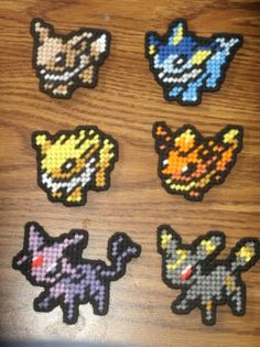 Pokemon Sprites - Eevee and Evolutions by UWorlds.deviantart.com on @deviantART