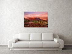 """Sunset In Paradise Art Print by Ren Kuljovska. Our art prints are produced on acid-free papers using archival inks to guarantee that they last a lifetime without fading or loss of color. All art prints include a 1"""" white border around the image to allow for future framing and matting, if desired.  #wallart #artdeco #homedeco #homedecor #artprint #artprints #wallartideas #print #giftidea #scotland #scottishsunset #loch #pinklandscape #romanticsunset Thing 1, Nature Artists, Nature Artwork, Wall Art For Sale, Floral Pillows, Great Artists, House Colors, Painted Rocks, Decor Styles"""