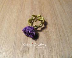 Ring,Tatting Bud 2014 (Purple)