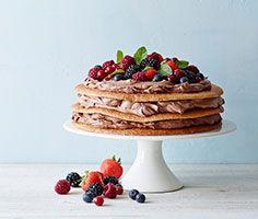 Hjemmelavet lagkage med bær #karenvolf #lagkage #lagkagebunde #påskefrokost #påske #opskrift #inspiration #dessert