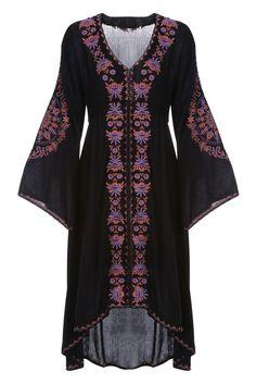 Black Bell Sleeve Daydreamer Dress