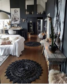 Dark home decor is so cozy Interior design in ots best Dark Home Decor, Unique Home Decor, Home Decor Styles, Living Room Decor, Living Spaces, Dark Interiors, Online Home Decor Stores, Online Shopping, Discount Furniture