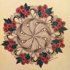 Didisch website: Zendala Dare 28: Rozen ~ nice use of color!