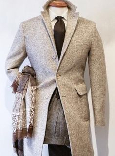 Different combinations of gray with some brown. Gentleman Style indeed.