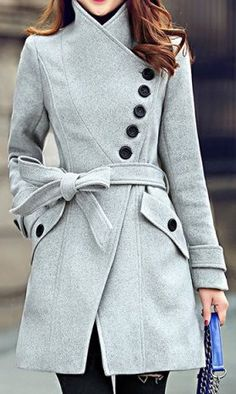 fall outfit ideas / gray coat