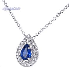 Mirco Visconti necklace. with 0.49 carat Ceylon shappire, and 0.20 carat F color diamonds. My favourite jewel!! <3
