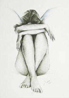 Manga Drawing Tips Saatchi Art Artist Xrista Stavrou; Dark Art Drawings, Pencil Art Drawings, Art Drawings Sketches, Figure Sketching, Figure Drawing, Figure Painting, Painting & Drawing, Drawing Drawing, Woman Drawing