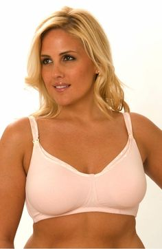 0974d5185b Soft bamboo unpadded wireless bra with easy drop cup for nursing. Pretty  binding along strap