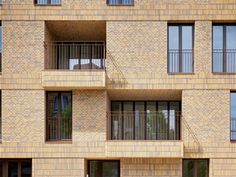 There are lots of design apartment building facade architecture that you can see here. This facade design are awesome contemporary and amazing. Architecture Design, Facade Design, Brick Facade, Facade House, Brick Works, Brick Detail, Appartement Design, Building Facade, Brick And Stone