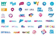 MyCall brand identity design, logo exploration