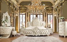 Do you want a classic luxury bedroom set for your room? Classic luxury Bedroom Set design for your bedroom is mandatory if you crave calm and comfort. Beautiful Bedrooms, Royal Bedroom, Sanctuary Bedroom, Dream Bedroom, Bedroom Design, Luxurious Bedrooms, Luxury Bedroom Sets, Bedroom Set, Beautiful Bed Designs