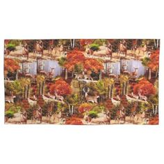 "Title : Cabin Lodge Forest Scene.JPG Pillowcase  Description : Rustic, ""Cabin-Lodge"", Animals, Wildlife, ""Accent-Pillows"", ""Log-Cabin"", ""Hunting-Lodge"", ""Fall-Season"", ""Tribal-Borders-Animal-Prints"", ""Black-Forest-Décor"", Whimsical, Ikat, ""Faux-Leather-Prints"", ""Native-American-Indian"", Tribal, ""Animal-Prints"", ""Western-Southwest-Prints"", Traditional, Modern, Bohemian, ""Country-Cottage"", Vintage, Kilim,  Product Description : <div>  Set Size: Pair of King Size Pillowcases    <div…"