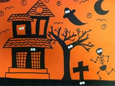 we heart art: More Spooky Silhouettes! Halloween Art Projects, Halloween Activities, Art Activities, Halloween Fun, Silouette Art, 3rd Grade Art Lesson, Negative Space Art, October Art, Halloween Silhouettes
