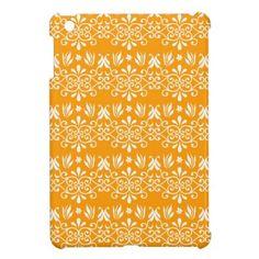 Royal Design on Orange iPad Mini Cases