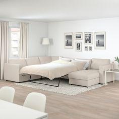 VIMLE Corner sofa-bed, - with chaise longue, Gunnared beige - IKEA Sofa Bed Frame, Large Sofa Bed, Sofa Back Cushions, Sofa Bed Mechanism, Ikea Vimle, Corner Sofa Design, Cosy Sofa, Ikea Family, Bed Slats